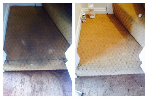 restored stairs carpet