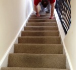 Half cleaned stairs