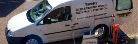 Vw Caddy carpet cleaning van