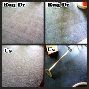 Rug Dr re-soiling lines