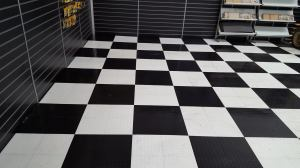 after photo of a stripped and polished vinyl floor